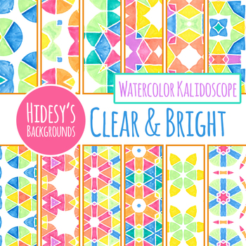 Clear and Bright Watercolor Backgrounds / Digital Papers Clip Art Commercial Use