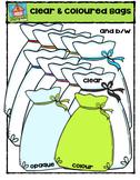 Clear and Coloured Bags {P4 Clips Trioriginals Digital Clip Art}