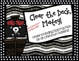 Clear the Deck, Mate! {A Pirate Printable Math Center}