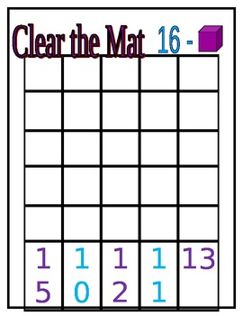 Clear the Mat Subtraction