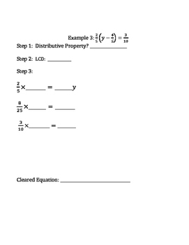 Clearing Fractions from Equations