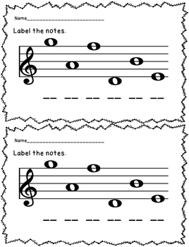 Clef Exit Tickets/Slips