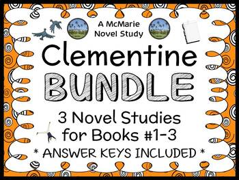 Clementine BUNDLE (Sara Pennypacker) 3 Novel Studies / Comprehension  (88 pages)