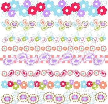 Clementine Borders Clipart by Poppydreamz