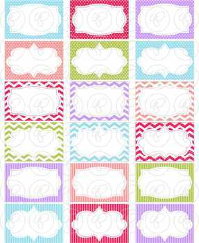 Clementine Frames and Labels Digital Borders Clipart by Poppydreamz