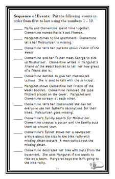 Clementine, Friend of the Week (Sara Pennypacker) Novel Study / Comprehension