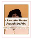 Clementine Hunter Portrait Art Print