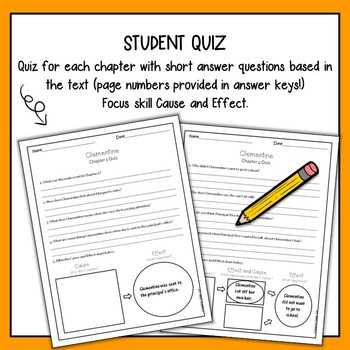 Clementine Comprehension Questions with Answer Key