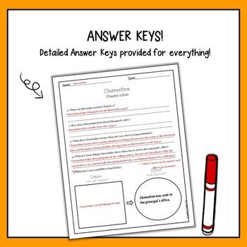 Clementine Novel Study - Quizzes
