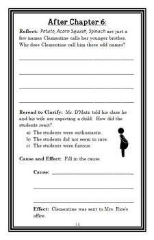 Clementine and the Family Meeting (Sara Pennypacker) Novel Study / Comprehension