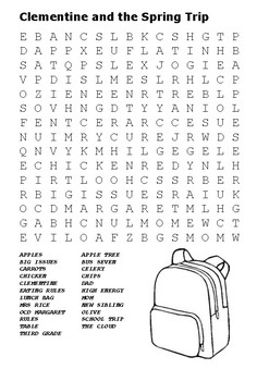 Clementine and the Spring Trip Word Search