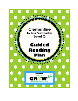 Clementine by Sara Pennypacker - Guided Reading Plan
