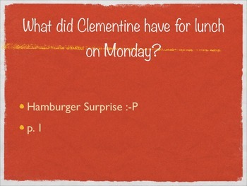 Clementine by Sara Pennypacker Quiz - PPT