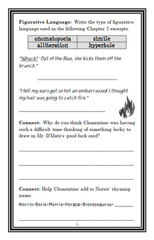 Clementine's Letter (Sara Pennypacker) Novel Study / Comprehension  (28 pgs)