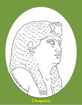 Cleopatra Clip Art, Coloring Page, or Mini-Poster