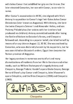 Cleopatra Handout