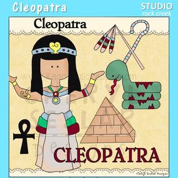 Cleopatra World History Color Clip Art  C. Seslar