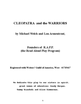 Cleopatra and the Warriors : A new way to teach reading