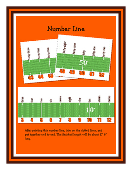 Football Classroom Essentials: Word Wall Headers, Number Line, Calendar, Borders