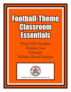 Football Classroom Essentials: Word Wall Headers, Number L