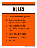 Football-Themed Rules, Rewards, and Consequences Posters Freebie
