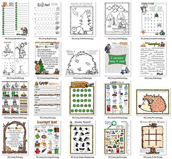 Clever Camp Activities Printables Download