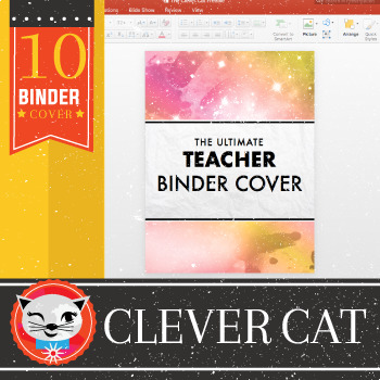 Clever Cat 10 Binder Covers