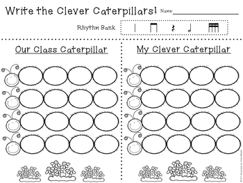 Clever Caterpillar Rhythm Erase - Level II