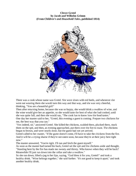 Clever Gretel - A Brothers Grimm Fairy Tale