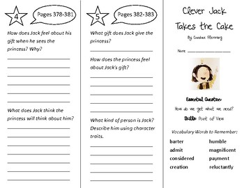 Clever Jack Takes the Cake Trifold - Wonders 3rd Grade Uni