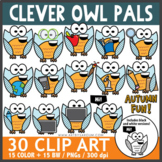 Clever Owl Pals Clip Art School Subjects Theme