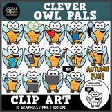 Clever Owl Pals Clip Art