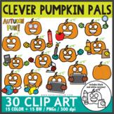 Clever Pumpkin Pals Clip Art