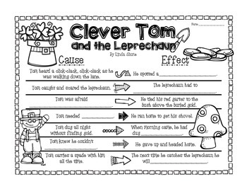 Clever Tom and the Leprechaun Cause & Effect