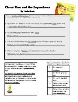 Clever Tom and the Leprechaun Comprehension Activity
