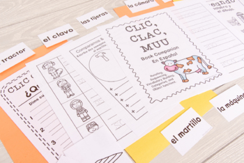 Clic Clac Muu: Activities and Printables - SPANISH Book Companion (53 pgs)