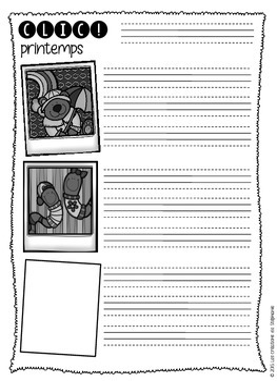 Clic! { Printemps } FRENCH WRITING ACTIVITY