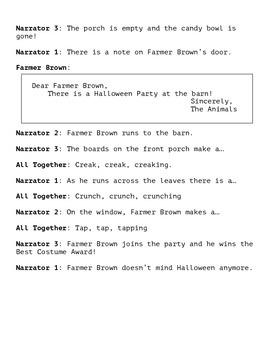 Click, Clack, Boo! A Halloween Reader's Theater Script
