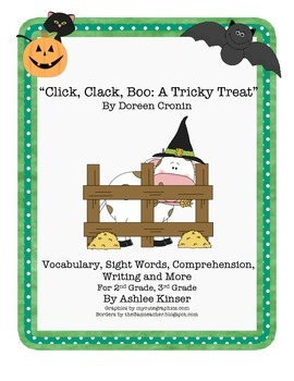 """""""Click, Clack, Boo"""" Doreen Cronin - Comp, Writing, Halloween Safety and more"""