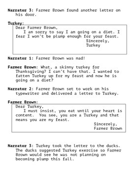 Click, Clack, Gobble- A Thanksgiving Reader's Theater Script