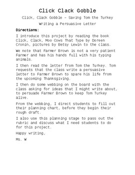 a persuasive letter
