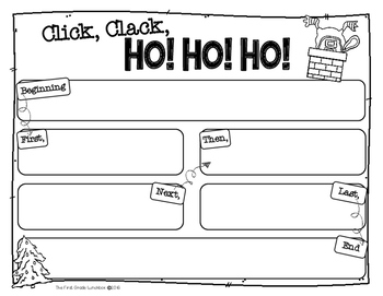Click, Clack, HO! HO! HO! comprehension craftivity