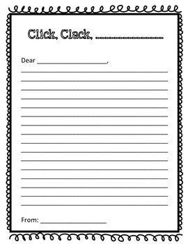 Click, Clack, Moo - A Letter Writing Activity #digitaldollarspot