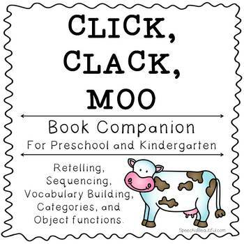 Click Clack Moo Activities And Printables Book