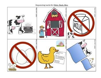 Click, Clack, Moo - Book Companion for Speech/Language Therapy