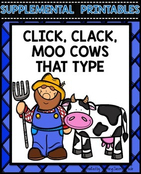 Click Clack Moo Cows That Type Activities
