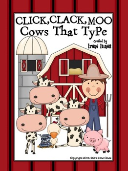 Click, Clack, Moo Cows That Type Activity Book Unit ~ Perfect For Sub Tub!