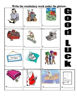 ESOL Vocabulary with Pictures: Click Clack Moo, Cows That Type