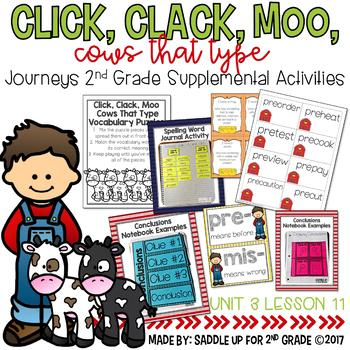 Click, Clack, Moo Cows That Type Journeys 2nd Grade Supplemental Activities