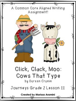 Click, Clack, Moo:  Cows That Type-Journeys Grade 2 Lesson 11